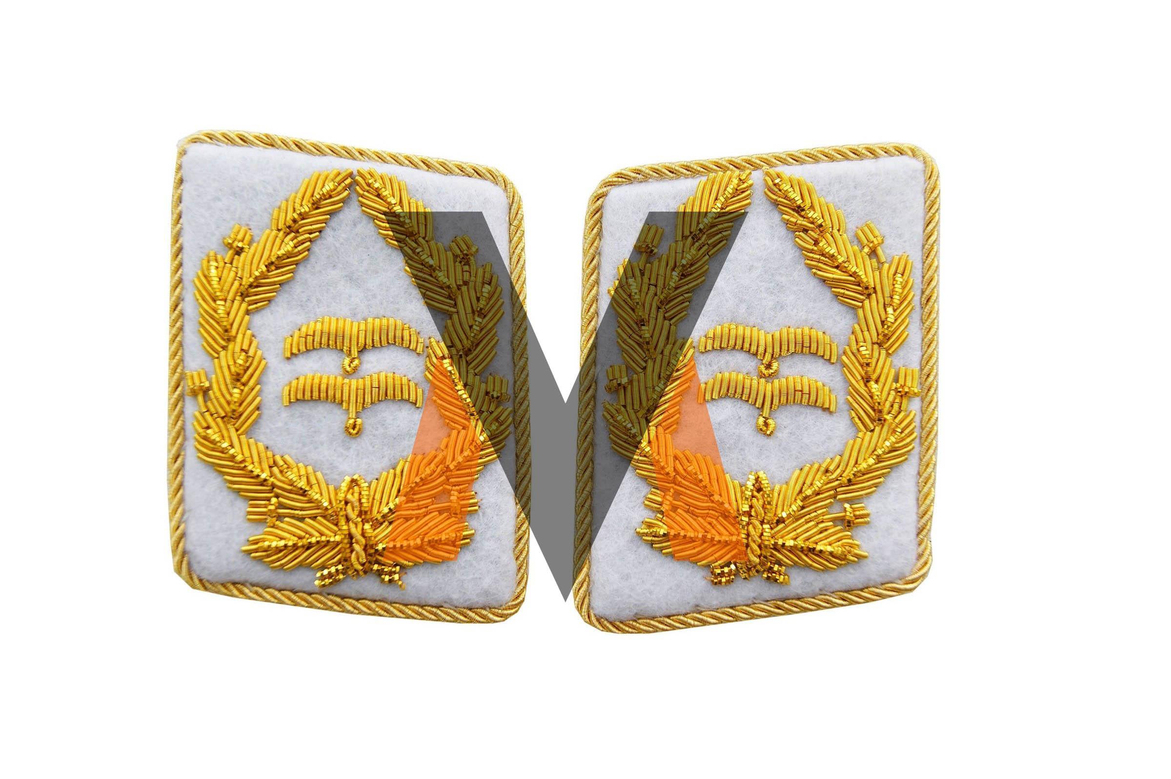 German WW2 Luftwaffe Generalleutnant collar tabs